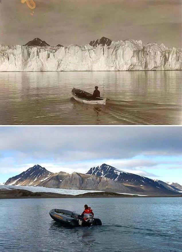 Льды в Арктике 103 года назад и сегодня.