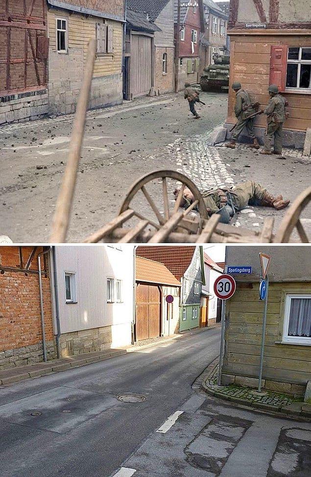Одна и та же улица 71 год спустя.