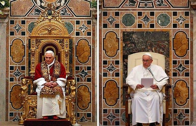 Папа Бенедикт XVI и Папа Франциск.