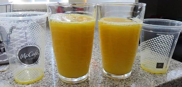Разница между «маленьким» и «средним» апельсиновым соком в Макдоналдсе.