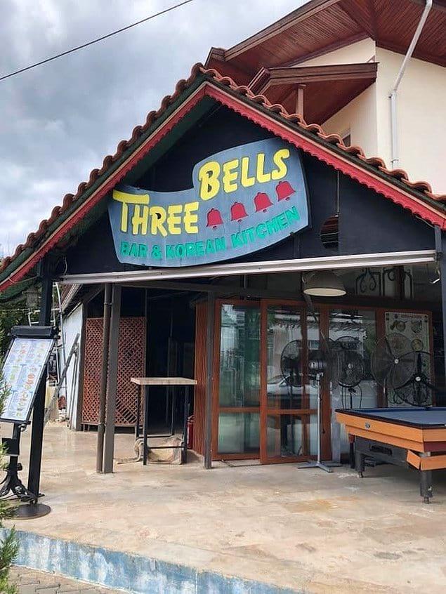 """Ресторан """"3 колокольчика"""" и очень подходящая названию вывеска"""