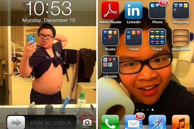 «Вот что брат делает с моим телефоном»