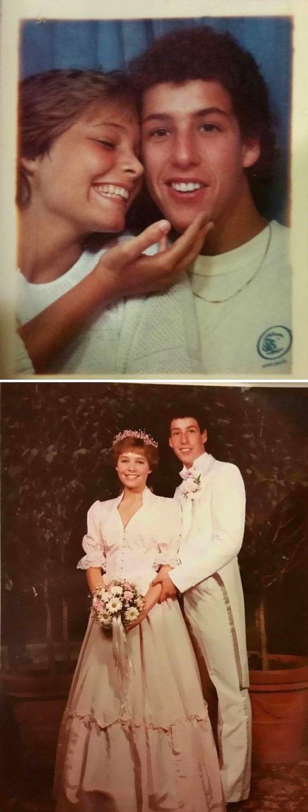"""""""Моя мама крутила с Адамом Сэндлером в старшей школе. Вот ее выпускные фотографии""""."""