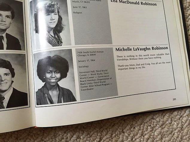 """""""Нашла Мишель Обаму в школьном фотоальбоме моего дяди""""."""