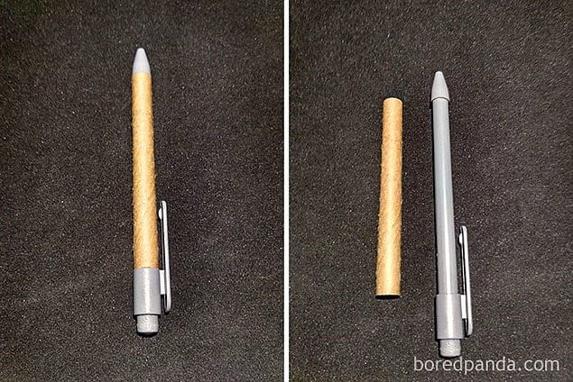 Производители утверждают, что дизайн этой ручки минимизирует использование пластика 😠